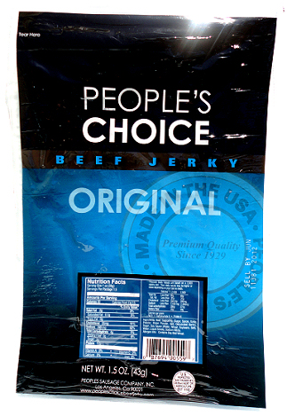 People's Choice Premium Original Beef Jerky 1.5 oz Tear Bag