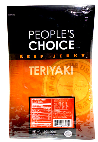 People's Choice Premium Teriyaki Beef Jerky 1.5 oz Tear Bag