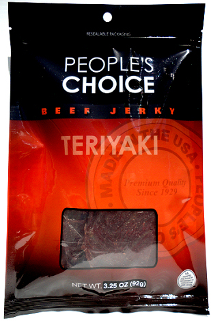 People's Choice Premium Teriyaki Beef Jerky 3.25 oz Bag
