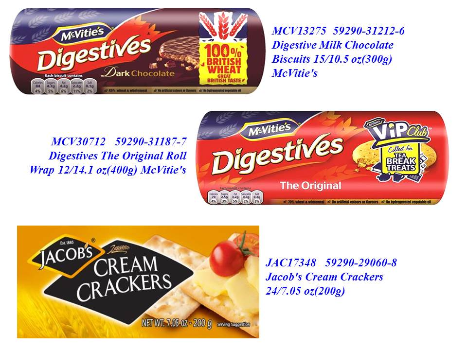 McVitie's Cookies & Jacob Cream Crackers