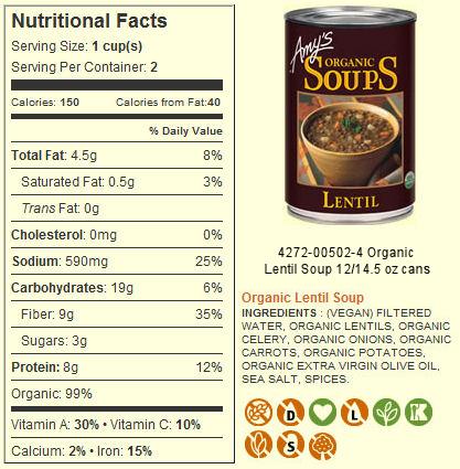 Amy's Kitchen Organic Lentil Soup